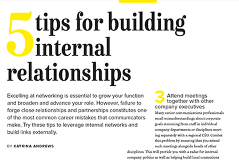 Building Internal Relationships