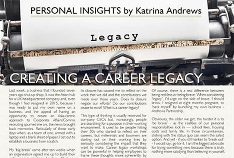 Creating a Career Legacy