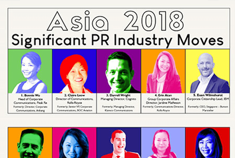ASIA 2018: Significant PR Industry Moves