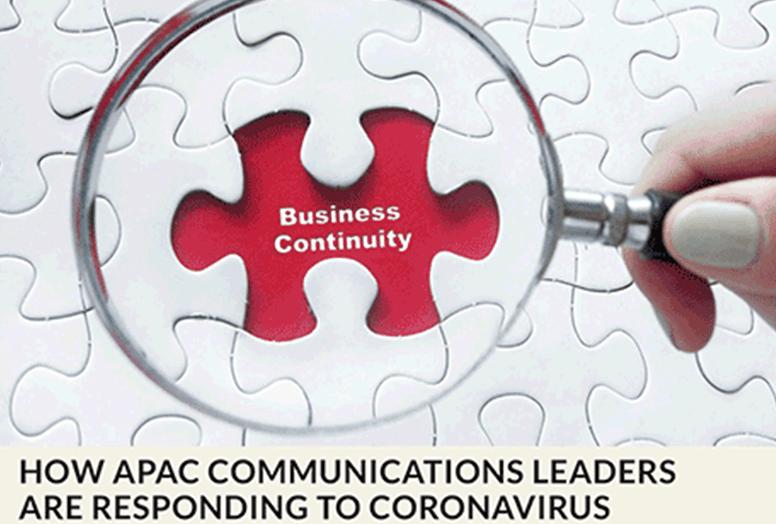 How APAC communication leaders re responding to the Coronaviras